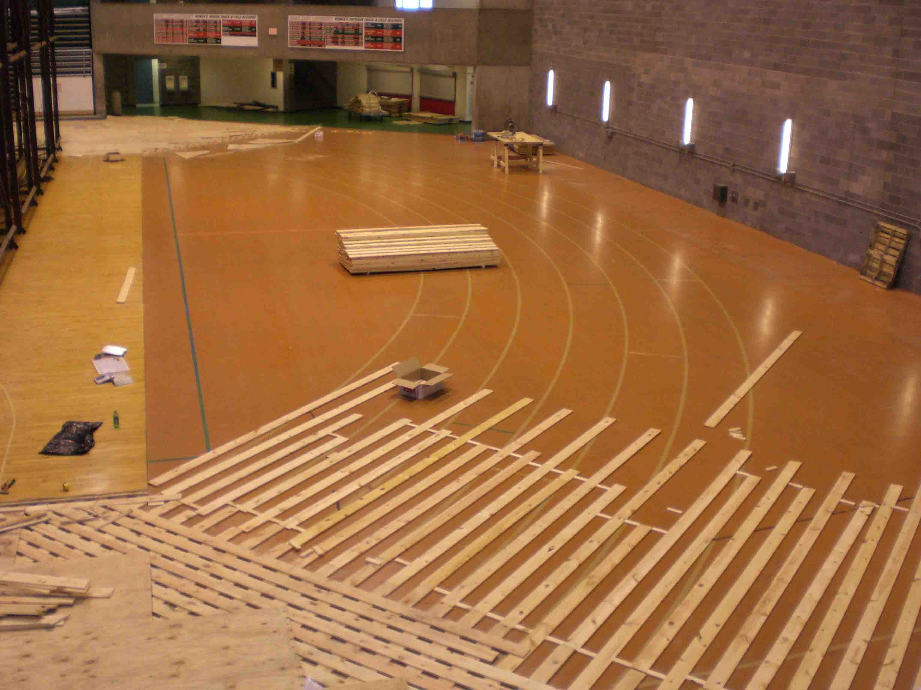 Basketball court construction indoor basketball court for Indoor basketball court flooring cost