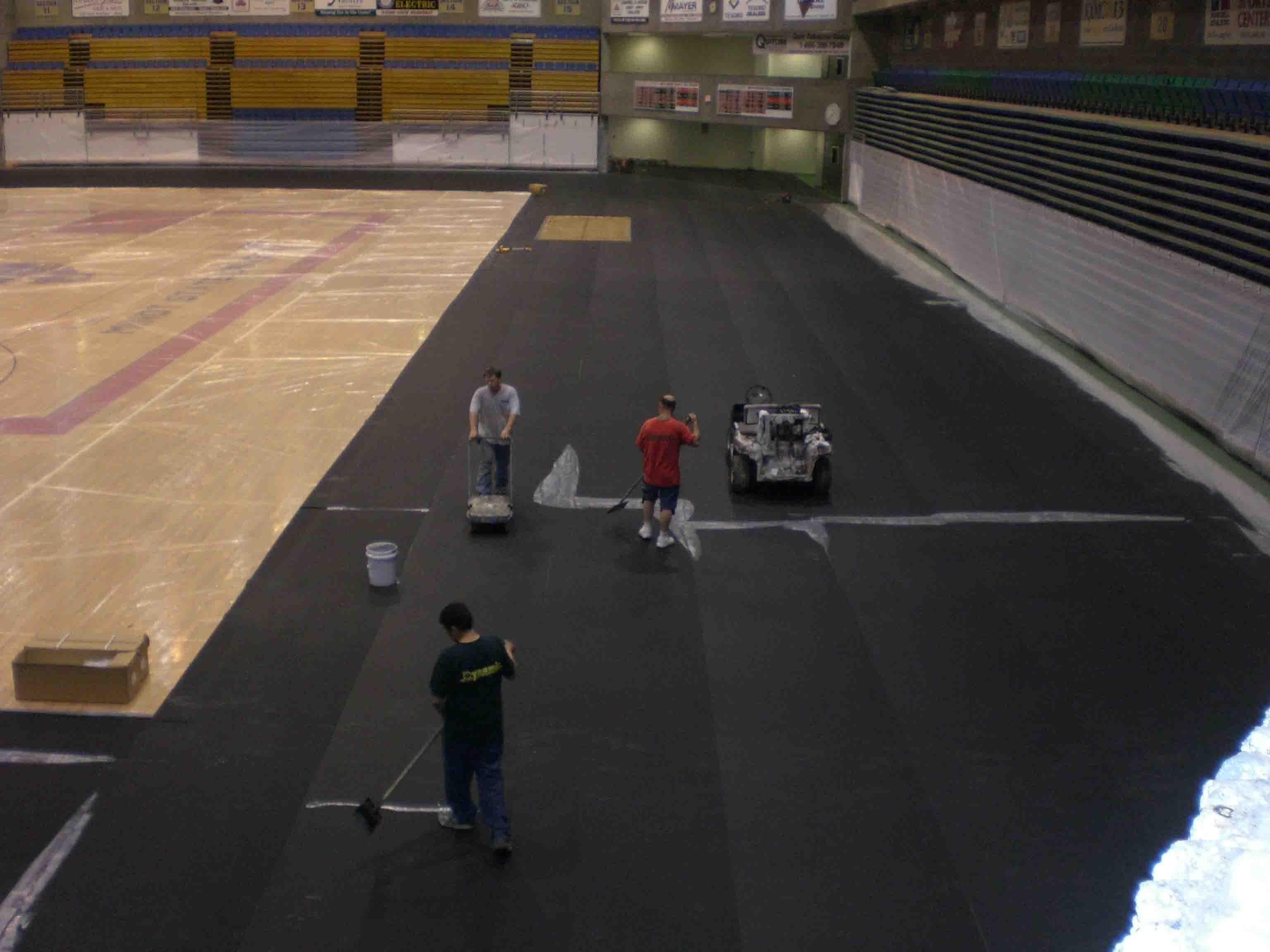 Outdoor Track Flooring | Athletic Rubber Floor Construction