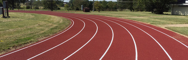 Outdoor track flooring