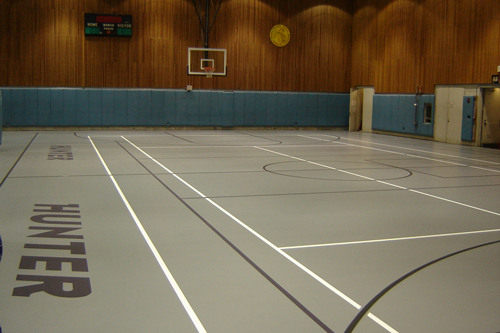 Gym floor resurfaced at Hunter College